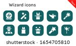 wizard icon set. 10 filled...   Shutterstock .eps vector #1654705810