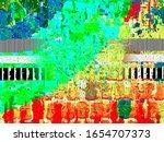 digital effects. multicolor... | Shutterstock . vector #1654707373