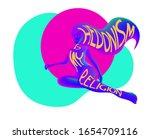 hedonism is my religion slogan...   Shutterstock .eps vector #1654709116