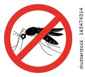 no mosquito sign   stop... | Shutterstock .eps vector #165474314