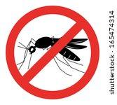no mosquito sign   stop... | Shutterstock .eps vector #165474314