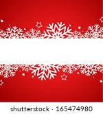red christmas background | Shutterstock .eps vector #165474980