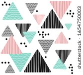 geometric vector pattern with... | Shutterstock .eps vector #1654750003
