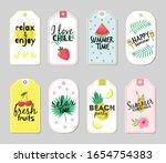 summer tags. beach vacation ... | Shutterstock .eps vector #1654754383
