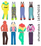 set of women's clothing for... | Shutterstock .eps vector #165476018