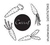 set of hand drawn carrots for... | Shutterstock .eps vector #1654767043