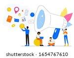 business concept. calling...   Shutterstock .eps vector #1654767610