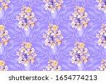 art floral vector seamless... | Shutterstock .eps vector #1654774213