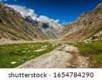 Dirt Road In Himalayas. Lahaul...