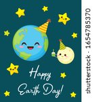happy earth day greeting card....   Shutterstock .eps vector #1654785370