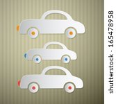 paper cars on cardboard... | Shutterstock .eps vector #165478958