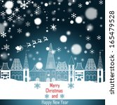 christmas greeting card. merry... | Shutterstock . vector #165479528