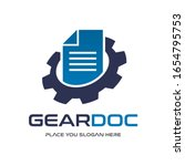 gear document vector logo... | Shutterstock .eps vector #1654795753