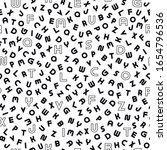 vector seamless alphabet... | Shutterstock .eps vector #1654796536