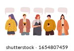 group of people discuss social... | Shutterstock .eps vector #1654807459