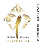 tropical golden  triangular... | Shutterstock .eps vector #1654819246