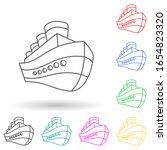 ship logo multi color style...