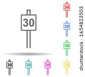 speed limit sign 30 multi color ...