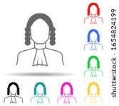 judge multi color style icon....