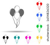 balloons multi color style icon....