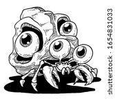 crazy eyes kelomang vector...   Shutterstock .eps vector #1654831033