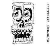 crazy skull square vector design   Shutterstock .eps vector #1654831876