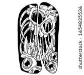 monster skull 2 artwork vector...   Shutterstock .eps vector #1654835536