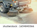 Street Sweeper Machine Working. ...