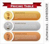 pricing table banner design...   Shutterstock .eps vector #1654850659