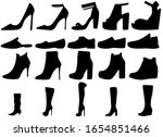 Black Female Shoes Silhouettes...
