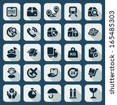 flat icons set for the... | Shutterstock .eps vector #165485303