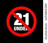no under twenty entry badge   Shutterstock .eps vector #1654869289