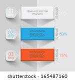 vector ribbons for your data  ...   Shutterstock .eps vector #165487160
