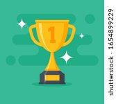 award cup vector icon. trophy...