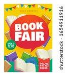 book fair poster event... | Shutterstock .eps vector #1654911916