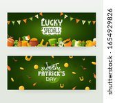 set of banners designs for st.... | Shutterstock .eps vector #1654929826