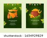 set of poster designs for st.... | Shutterstock .eps vector #1654929829