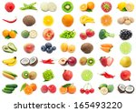collection of various fruits... | Shutterstock . vector #165493220