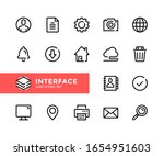 interface vector line icons.... | Shutterstock .eps vector #1654951603