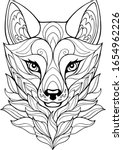 fox head line art. vector...   Shutterstock .eps vector #1654962226