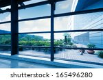 office windows  modern building ... | Shutterstock . vector #165496280