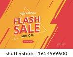 special offer flash sale banner ... | Shutterstock .eps vector #1654969600