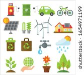 ecology flat icons  isolated on ... | Shutterstock .eps vector #1654971199