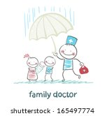 family doctor holding an... | Shutterstock .eps vector #165497774