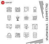 collection of 16 vector icons...   Shutterstock .eps vector #1654997740