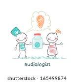 otolaryngologist says ear... | Shutterstock .eps vector #165499874