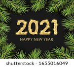 2021 happy new year shiny text... | Shutterstock .eps vector #1655016049