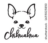 Chihuahua Dog Face Line Art...