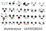 kawaii cute faces. manga style... | Shutterstock .eps vector #1655028310