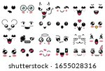 kawaii cute faces. manga style... | Shutterstock .eps vector #1655028316